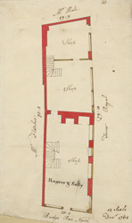 [Plan of property on Budge Row] 120 E
